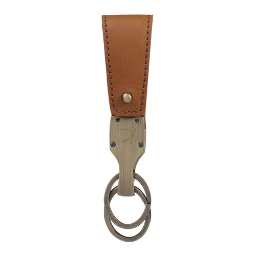 Light brown Duncan Leather Key fob,Kaizer, Curated Designer at Freesigners.com