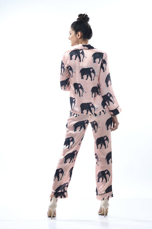 Elephant Print Slumber Set,Nochee Vida, Curated Designer at Freesigners.com