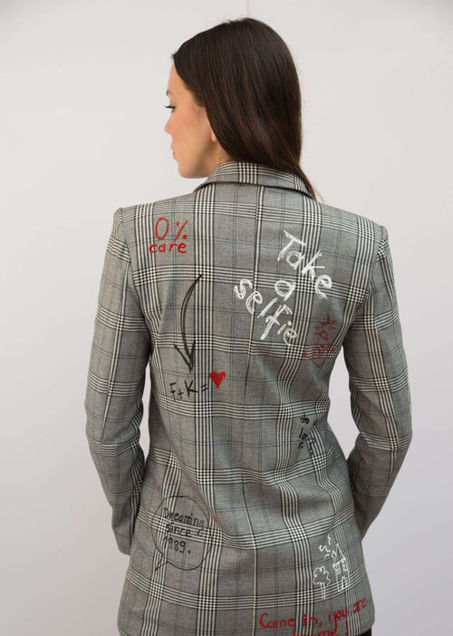 PC447 hand painted blazer,Posh couture, Curated Designer at Freesigners.com