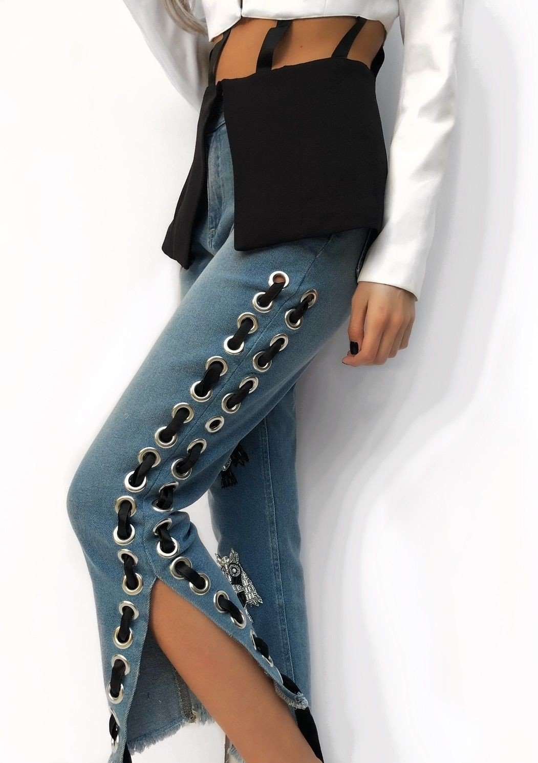 jeans hibou,Posh couture, Curated Designer at Freesigners.com