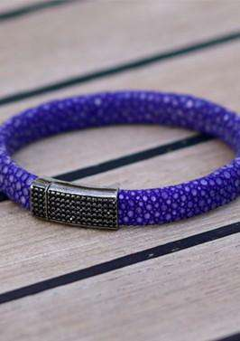 Purple Stingray Bracelet,Smith Du Nord, Curated Designer at Freesigners.com