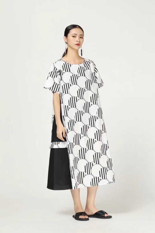 Extensive pocket dress,MimotoE63HP839, Curated Designer at Freesigners.com