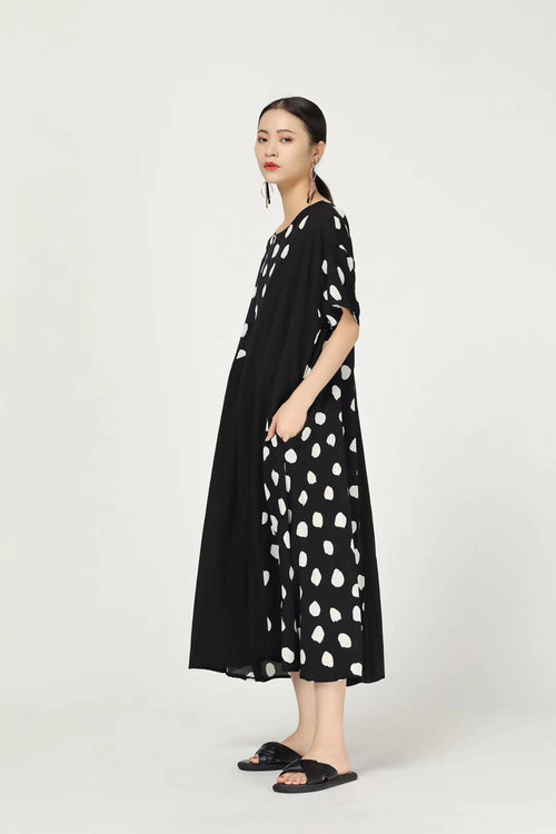 Mostly doted dress,MimotoE63HP839, Curated Designer at Freesigners.com