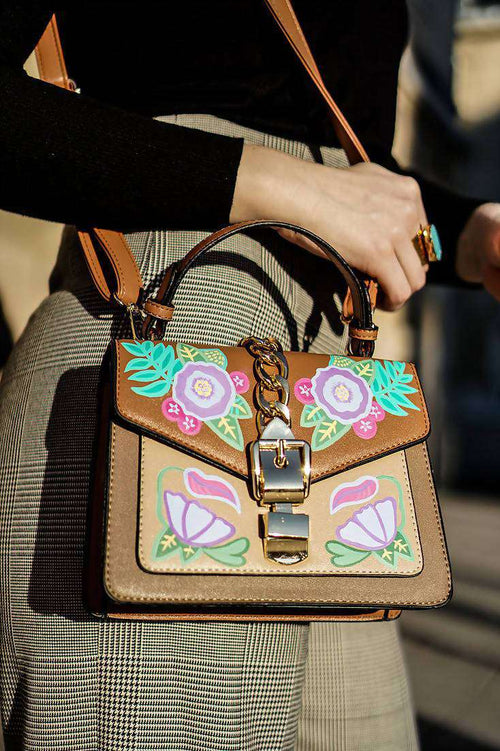 FLOWER POWER Shoulder Bag,WOODO unique designer bags, Curated Designer at Freesigners.com