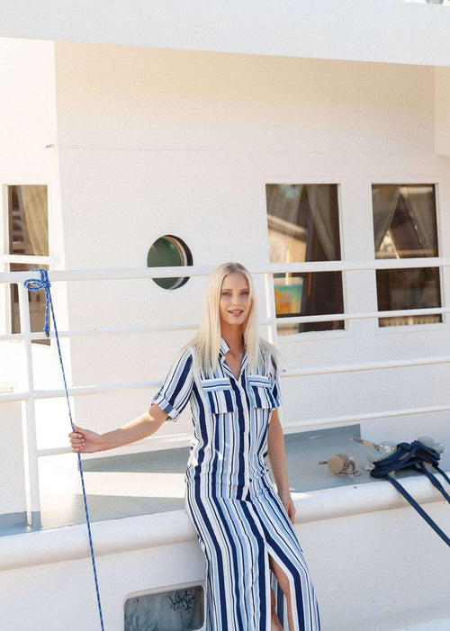 Visby Maxi Shirt Dress