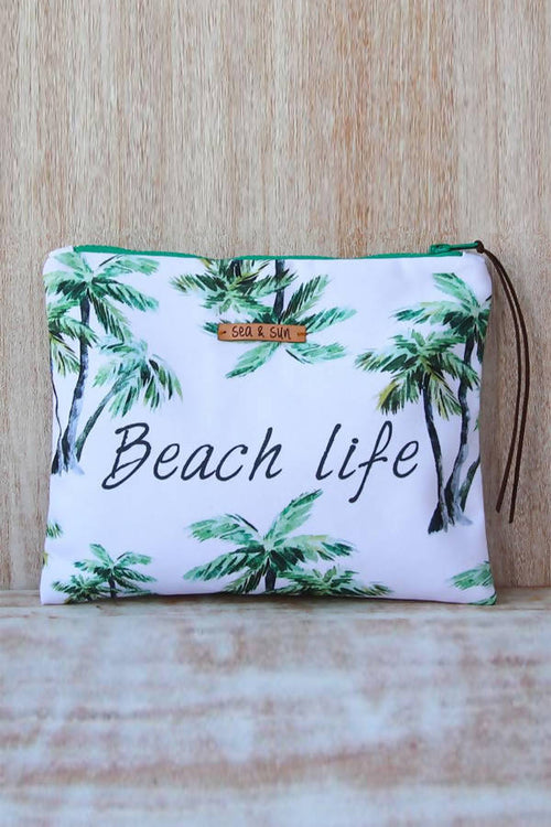 Beach Life Waterproof lined Bag for the Beach, Pool, Travel or Makeup,Kardia, Curated Designer at Freesigners.com