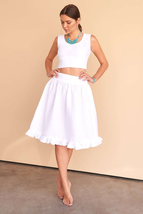 Aryana | Skirt,FÁCIL BLANCO DUBAI, Curated Designer at Freesigners.com