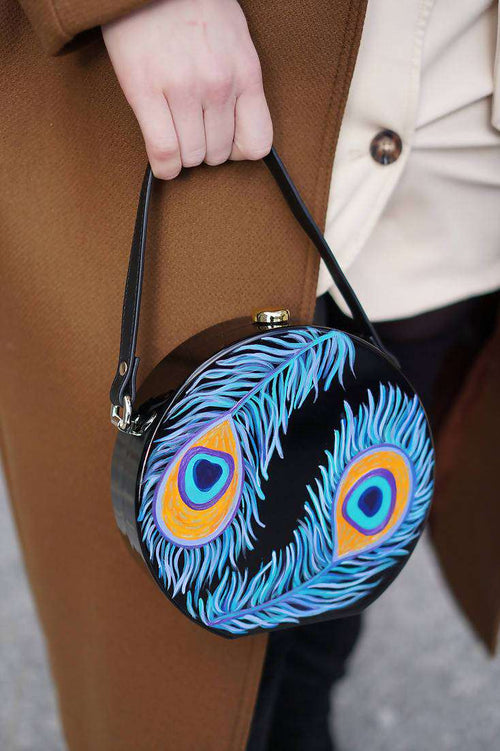 PEACOCK Round Acrylic Bag