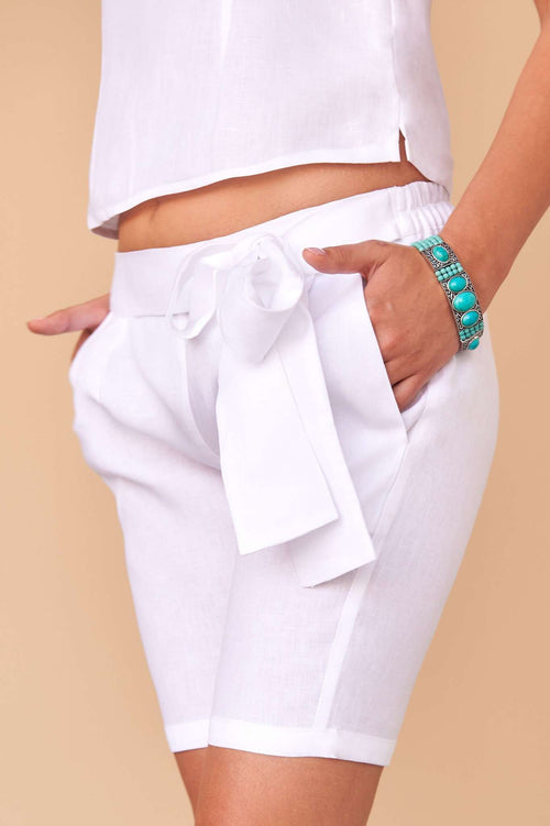 Blanca | Shorts,FÁCIL BLANCO DUBAI, Curated Designer at Freesigners.com
