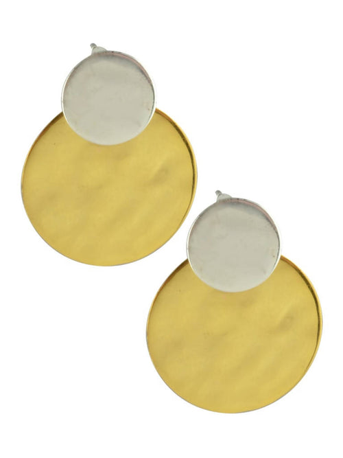Dual tone Circumscribe earrings,Arvind Agarwal, Curated Designer at Freesigners.com