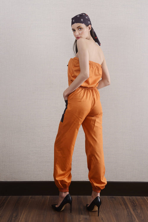 APRICOT COUNSIL JUMPSUIT,Nochee Vida, Curated Designer at Freesigners.com