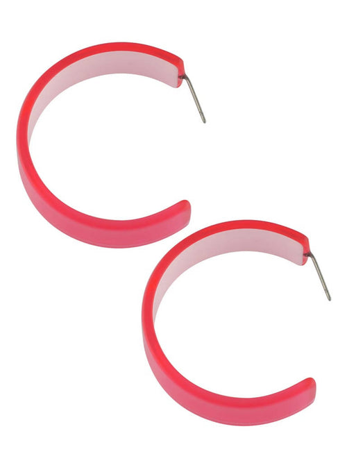 Neon pink hoops,Arvind Agarwal, Curated Designer at Freesigners.com