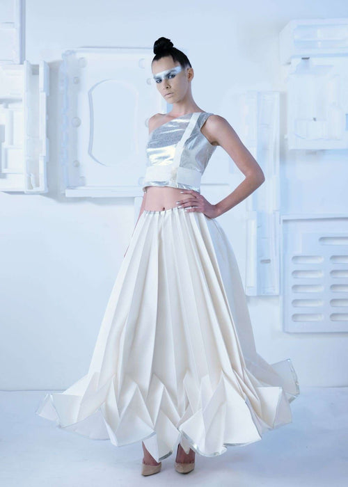CYBORG COUTURE - PLEATED SKIRT,NAYLA OBEID, Curated Designer at Freesigners.com