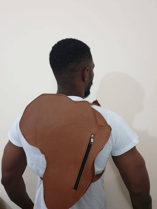 Leather back pack,Z'NUBIA, Curated Designer at Freesigners.com