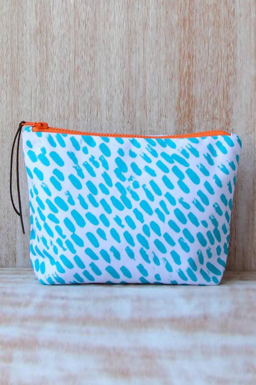 Summer Time Waterproof lined Bag for the Beach, Pool, Travel or Makeup,Kardia, Curated Designer at Freesigners.com