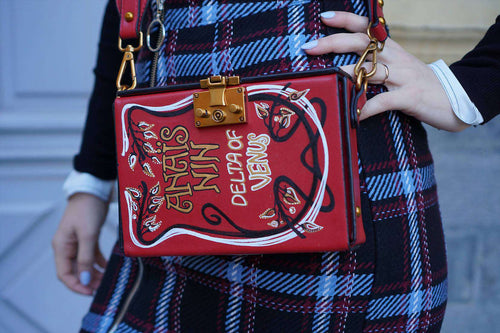 ANAIS NIN Book Cover Bag,WOODO unique designer bags, Curated Designer at Freesigners.com