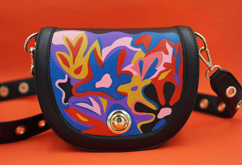 FLOWER FIELD Shoulder Bag,WOODO unique designer bags, Curated Designer at Freesigners.com
