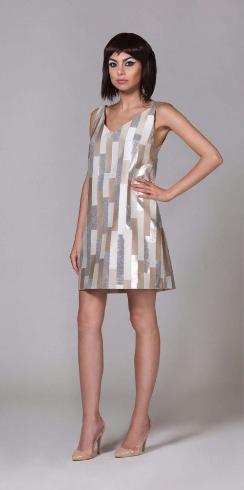 CYBORG COUTURE - STRIPED DRESS,NAYLA OBEID, Curated Designer at Freesigners.com