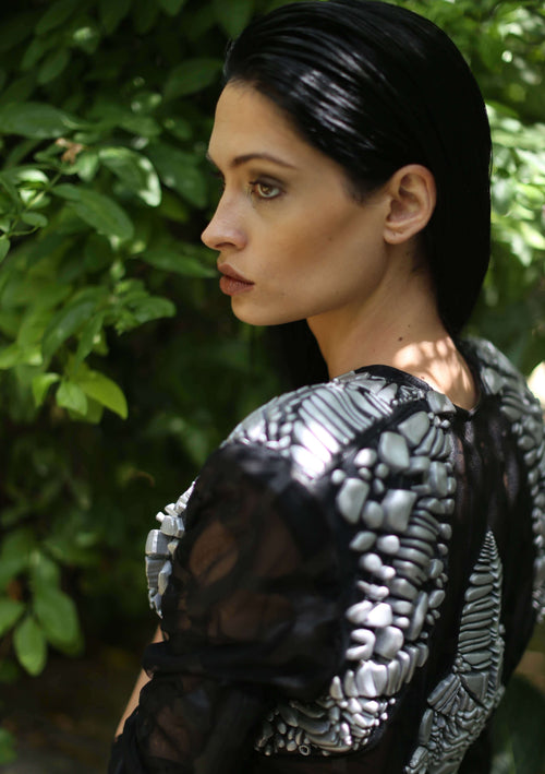3D Printed Mesh Bomber,Christie Dawli, Curated Designer at Freesigners.com