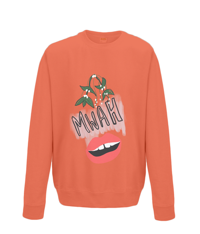 Mwah mistletoe pucker up xmas jumper
