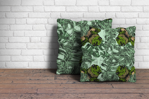 frog jungle cushion