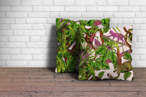 jungle cushion tropical