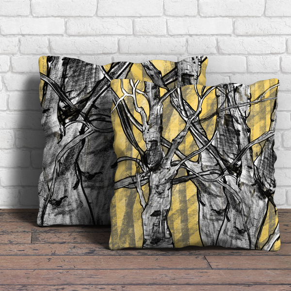 Tree Design Throw Cushion