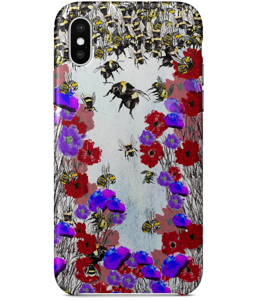 iPhone X Classic Bee Print