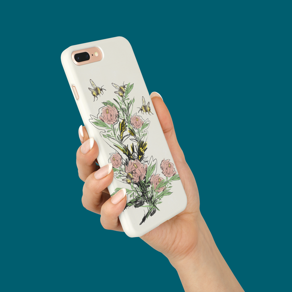 iPhone 7 Plus bee print case