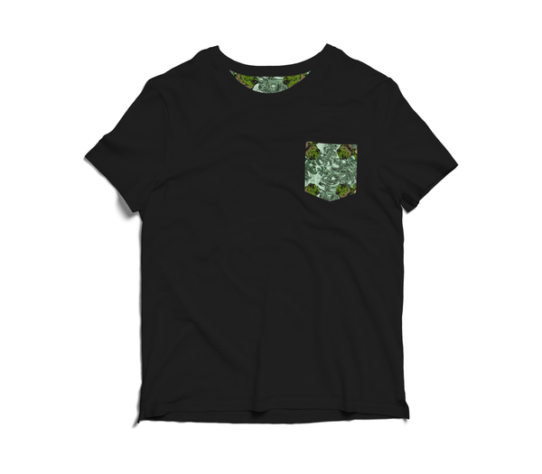 Unisex Pocket Tee With Frog Design