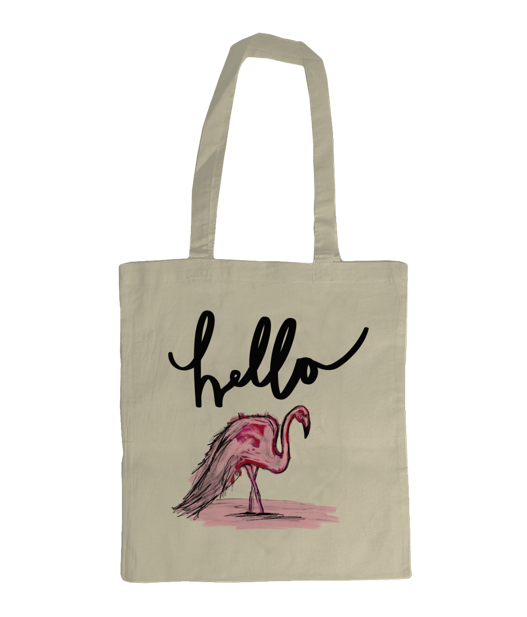 Hello Flamingo Tote - sleekitstore
