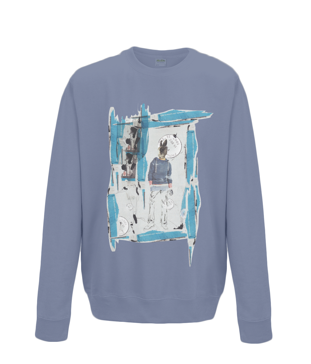 AWDis Sweatshirt rabiit collage - sleekitstore