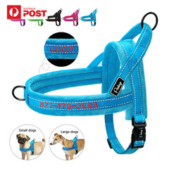 Personalised Reflective Non Pull Padded Nylon Pet Harness Customized Embroidery