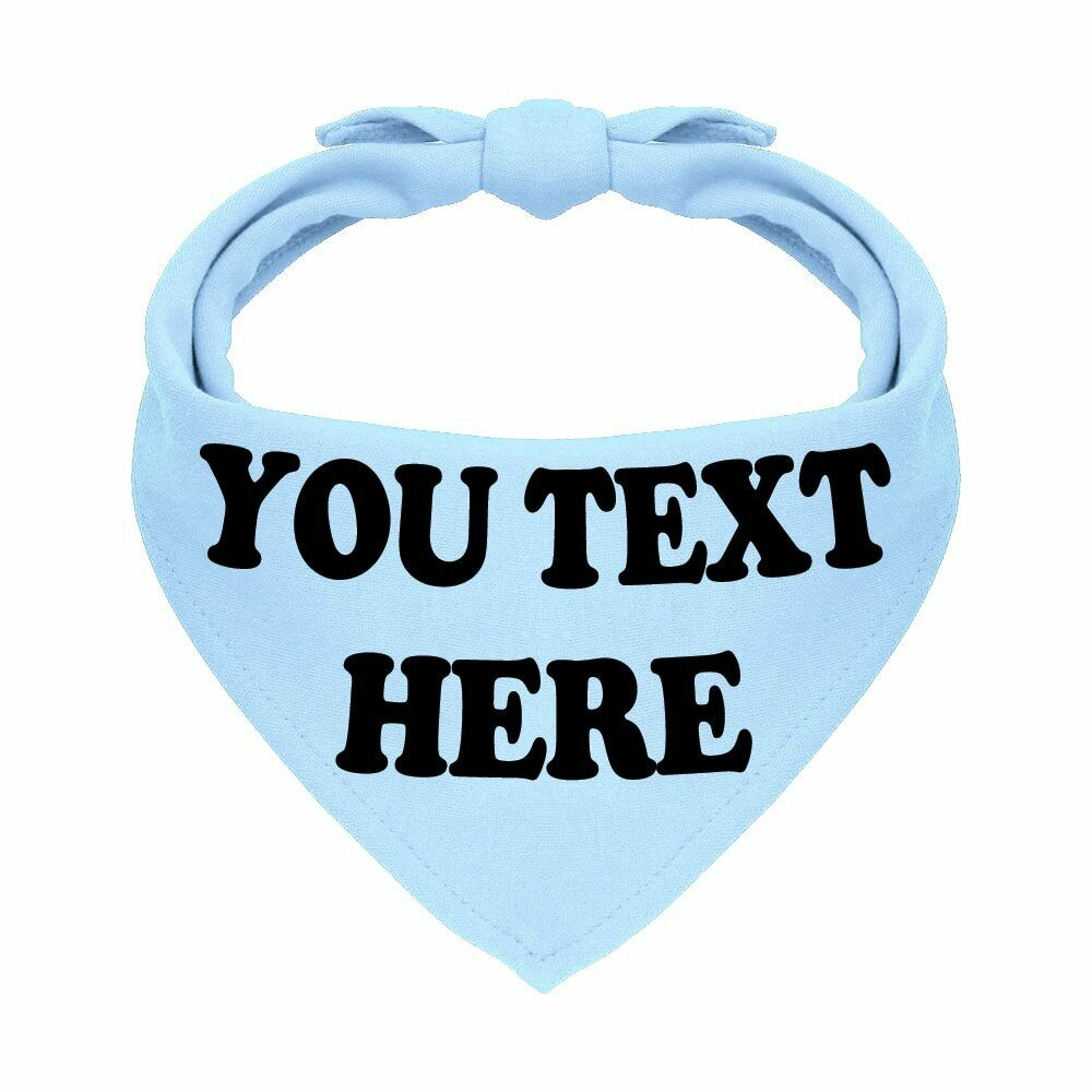 Personalised Printed Dog Bandana Pet Accessories Customized Cotton Bib