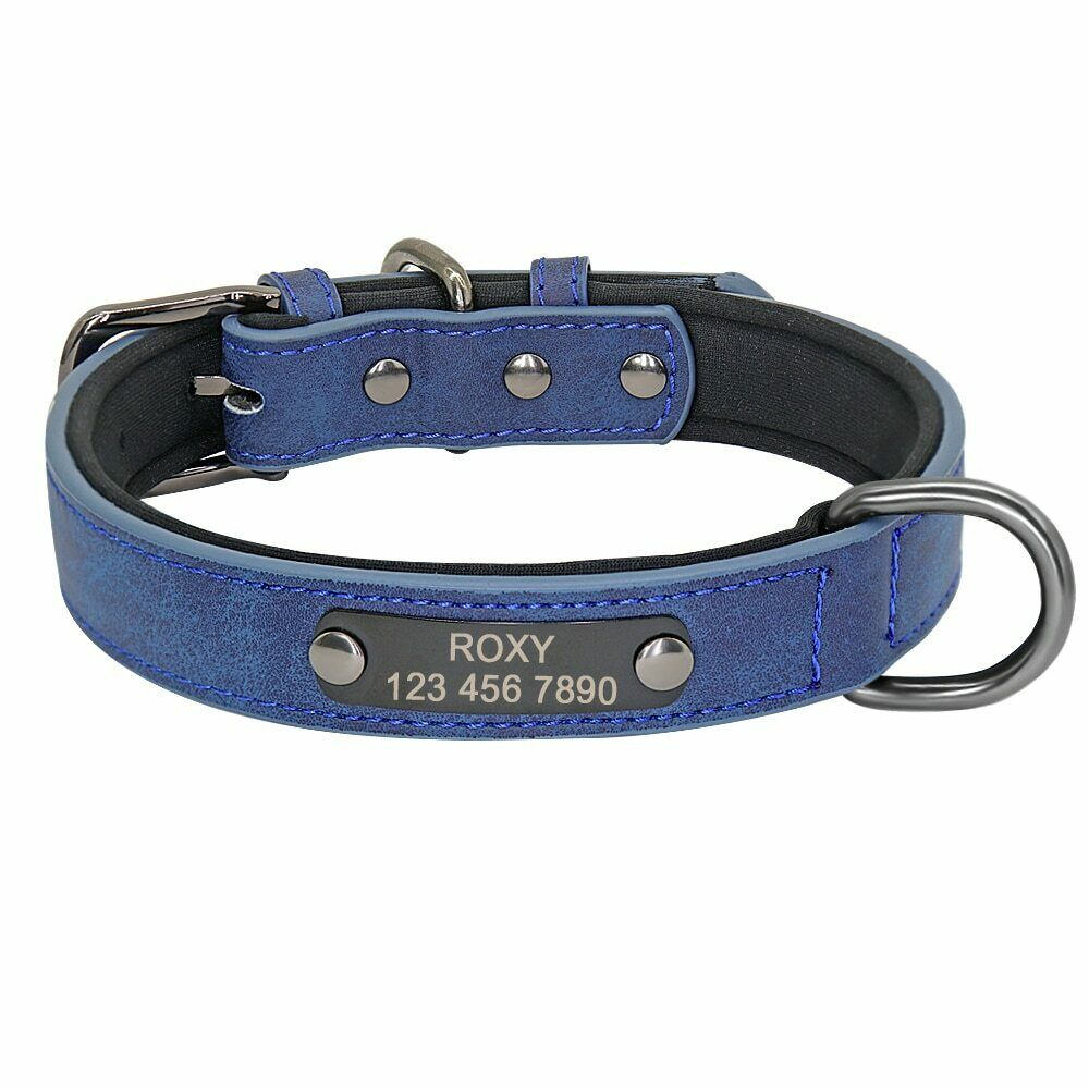 Personalised PU Leather Dog Collar Dogs Collar Engraved Cat Pet Dogs Collars