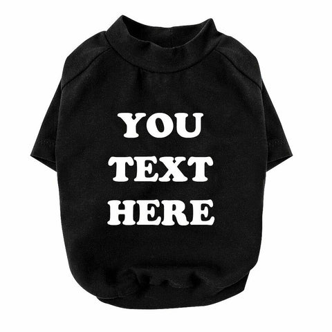 Personalised Cotton Printed Pet T-shirt Outfit Dog Cat Summer Clothing