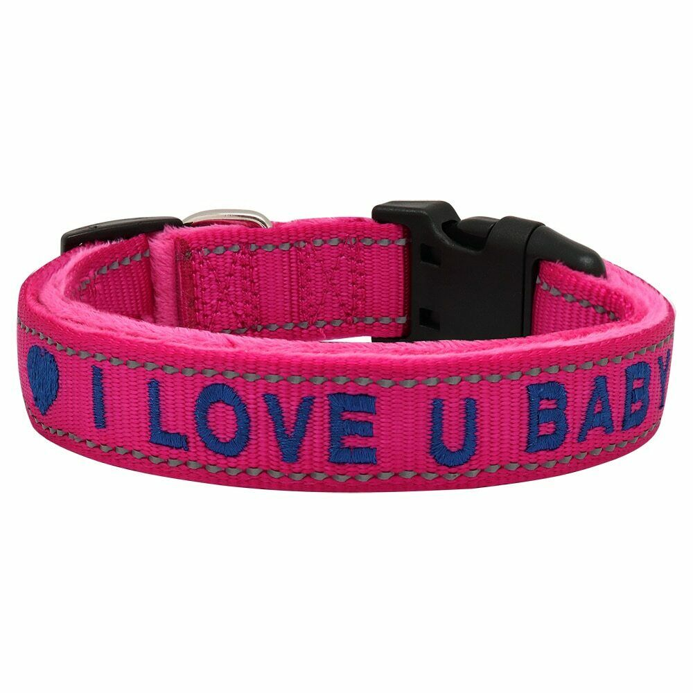 Personalised Reflective Dog Collar Customized Embroidery Fur Collar Name Phone