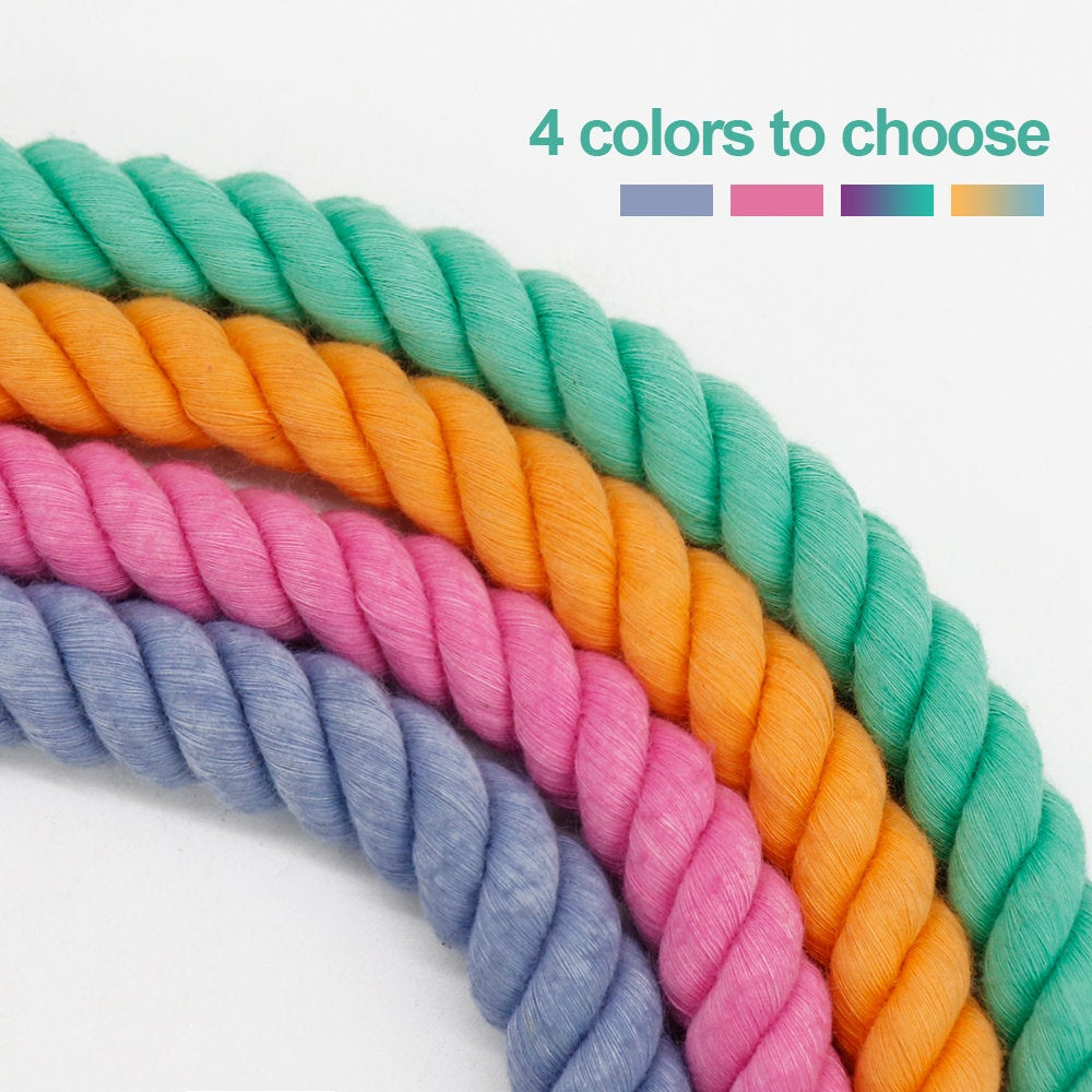 Handmade Braided Eco-Friendly Dream Colourful Multi-purpose Cotton Dog Leash 6ft/180cm, Hands free | Two dog leash