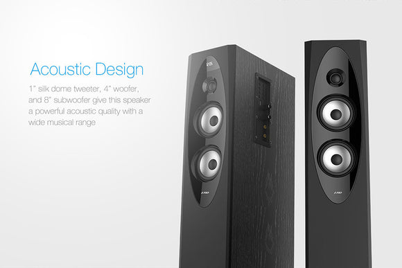 F&D T60X 2.0 Bluetooth Tower Woofer speaker with USB/SD/FM/REMOTE - Tulip Smile