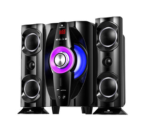 Zebronics Tornado-2 BT RUCF 2.1 Multimedia Speakers - Tulip Smile