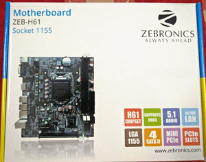 Zebronics H61 motherboard for intel socket LGA1155 support DDR3 RAM - Tulip Smile