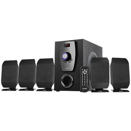 Intex 5.1 XV 650 FMUB multimedia speaker  USB/FM/BT/AUX/DVD - Tulip Smile