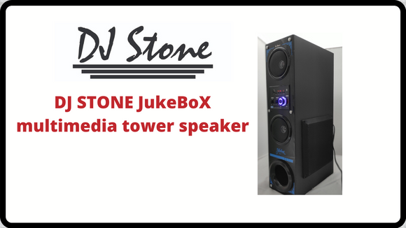 DJ STONE JukeBox Multimedia tower speaker | BT,FM,USB&AUX - Tulip Smile