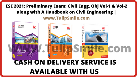 Made Easy ESE 2021: Preliminary Exam: Civil Engg. Obj Vol-1 & Vol-2 along with A Handbook on Civil Engineering  (Combo Books)