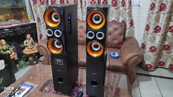 Zebion WRAPSODY WD3 Tower Speaker USB/SD/FM/remove/Bluetooth - Tulip Smile