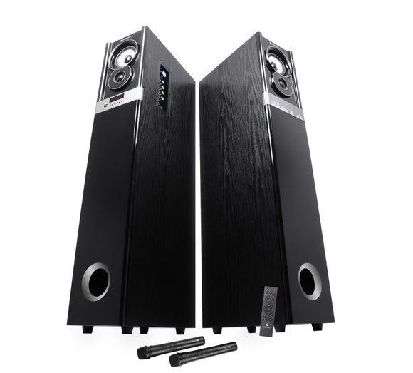 Zebronics ZEB-BT11400RUCFO bluetooth tower speaker | Karaoke | Recording | 2ch RCA & Optical Input - Tulip Smile