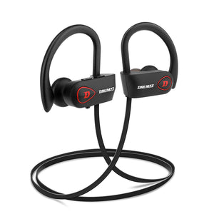 DRUMZZ Boosh Wireless Bluetooth Earphone Sports Headphones Waterproof IPX7 Headsets with Mic, CVC 6.0 and Long Battery Life - Tulip Smile