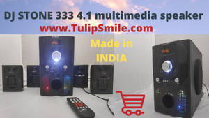 DJ STONE 333 4.1 bluetooth multimedia speaker - Tulip Smile