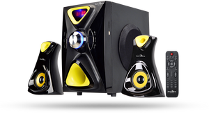 Jack Martin JM X5 2.1 Channel Multimedia Speaker 126W RMS - Tulip Smile
