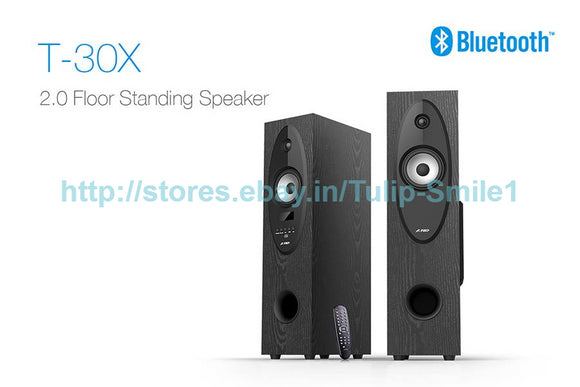 F&D T30X 2.0 Bluetooth Tower Woofer speaker with USB/FM/REMOTE - Tulip Smile
